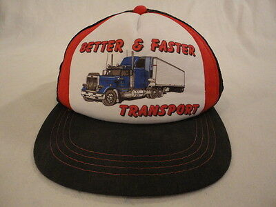 Men's Better & Faster Transport 18 Wheeler Mesh Trucker Snapback Cap
