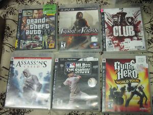 6 great ps3 games first $20 takes them all look!!!!