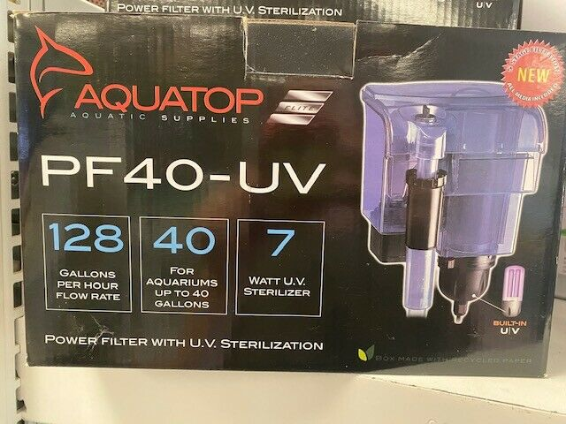 Aquatop Power Filter With Uv 128 Gph 7w Pump 7w Bulb. Free Shipping  - $79.99