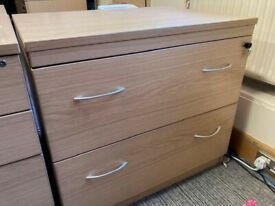 Medium sized office drawers with drop down filing sections