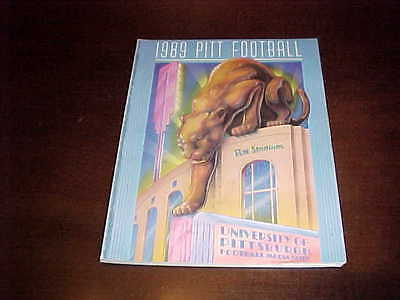 1989 Pitt Panthers Football Media Guide