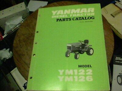 Yanmar Diesel Tractor Parts Catalog Model Ym122 Ym126