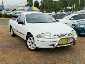 2002 Ford Falcon AUIII XL White 4 Speed Automatic Utility