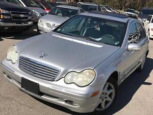2002 Mercedes-Benz C-Class SUNROOF,PW,PL, LEATHER,AC