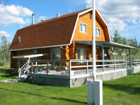 Beautifully Constructed Log Home on 17 Acres (6.94 Hectares)