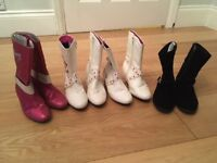 6 pairs of Disney dressing up boots