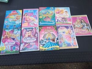 Lot of 9 Barbie movies