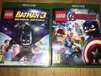 XBOX ONE LEGO Marvel Avengers + LEGO Batman 3: Beyond Gotham £35 FOR BOTH