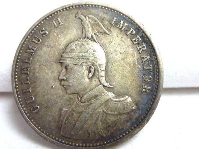 1899 GERMAN EAST AFRICA (TANZANIA) 1 RUPIE .917 SILVER 11.66 GMS LOW MINT I-1025