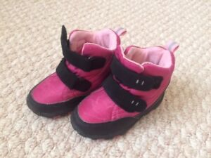 Girls Boots Size 8 - purple and black