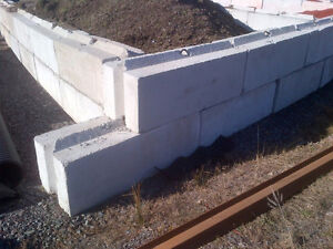Stacking Cement Barrier Blocks!