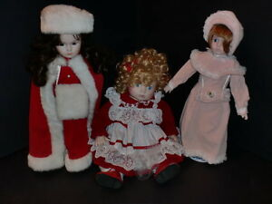 Vintage Porcelain Dolls Collection--27 dolls never played with