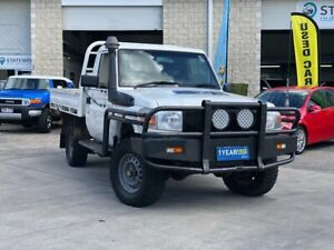2009 Toyota Landcruiser VDJ79R MY10 Workmate White 5 Speed Manual Cab Chassis East Brisbane Brisbane South East Preview