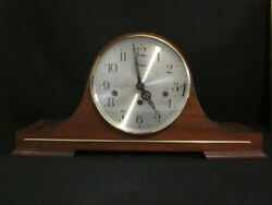 VINTAGE DEVON MANTLE CHIME CLOCK TRIPLE CHIME WITH WINDING TOOL - WEST GERMANY