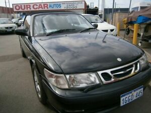 2002 Saab 9-3 Black Automatic Convertible