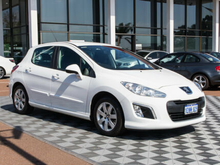 2013 Peugeot 308 T7 MY13 Style White 6 Speed Sports Automatic Hatchback