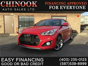 2013 Hyundai Veloster Turbo w/ Low KM, No Accidents & One Owner