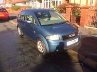 Audi A2 Blue 895 ono 1.4 2001 Plate Great first Car 11 Months M.O.T