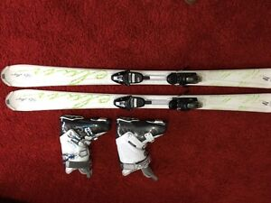 Elan White Magic skis/bindings and Nordica boots