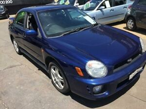 2001 Subaru Impreza MY02 RS (AWD) Blue 5 Speed Manual Sedan Islington Newcastle Area Preview