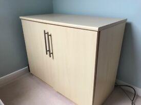 2 Door Storage Unit with 2 internal shelves