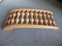 Wooden roller back massager