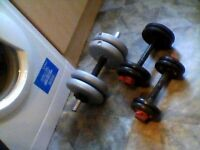 weights, as shown,assorted, £24/ 07778055133. thanks. york.body sculpture