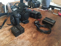 Canon C100 with DAF upgrade, Zacuto Z-finder Pro and x2 batteries