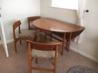 Drop Leaf Dining Table & 4 chairs