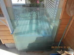"""2 Pieces 3/4"""" thick safety glass"""