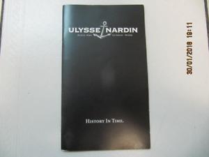 Classic Swiss Ulysse Nardin Boca Raton Product Manual Circa 2014