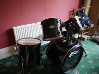 Tiger full sized drum kit black