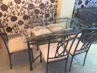 Dining table and sic chairs