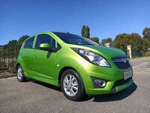 2014 Holden Barina Spark MJ MY15 CD Green 4 Speed Automatic Hatchback Enfield Port Adelaide Area Preview