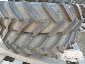 420/80R46 Michelin rims & tires - Set of 2 - off a NH T7.210