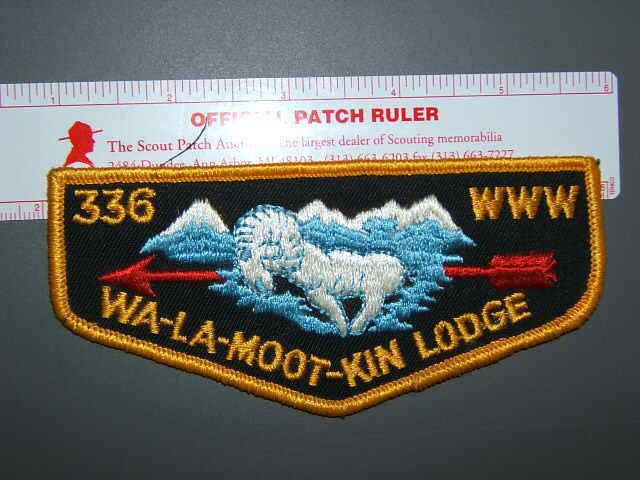 Boy Scout OA 336 Wa-la-moot-kin flap 0690L