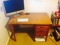 Small retro desk with 3 drawers