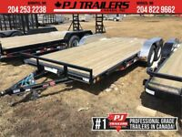"2019 PJ 18' x 4"" Channel Carhauler Trailer, 7K GVWR Winnipeg Manitoba Preview"