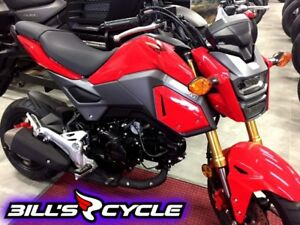 2017 HONDA On Road MSX 125 H   Grom Red Metallic