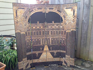 Quality room divider, Vintage privacy screen, folding screen