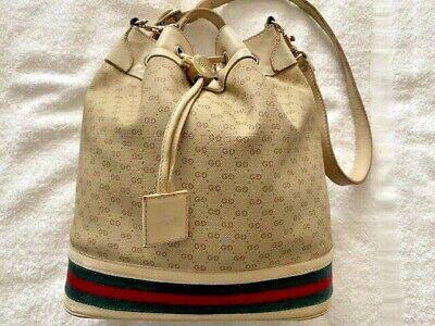 Vintage Gucci Ophida Monogram Bucket Bag