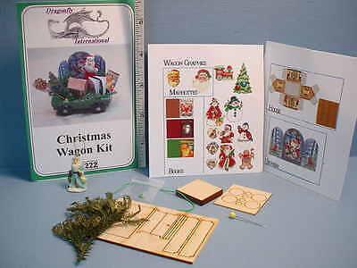 Dollhouse Miniature Christmas Wagon Kit #DF222 Dragonfly Int'l 1/12th (222 Miniature)