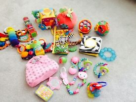 A bundle of baby's first toys