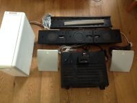 Home cinema/Surround sound - Denon AVR1910, Qacoustic speakers, sound bar, sub woofer + extras