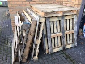 FREE wooden pallets mixed types