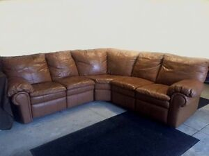Lane Leather Sectional Recliner Sofa