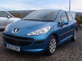 PEUGEOT 207 1.4 S 5 DR BLUE,MOT 15/11/18,CLICK ON VIDEO LINK TO SEE CAR IN GREATER DETAIL