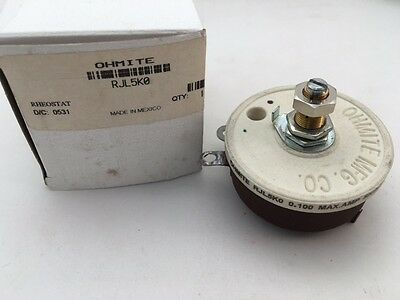 Rjl5k0 Ohmite 50 Watt 5k Ohm 750v Locking Shaft Linear Rheostat
