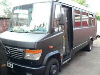 Mercedes Vario 614, Matt black , empty and ready for camper conversion. 12 months MOT.