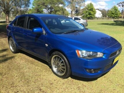 2010 Mitsubishi Lancer CJ MY11 SX Sportback Blue 6 Speed CVT Auto Sequential Hatchback Tuggerah Wyong Area Preview